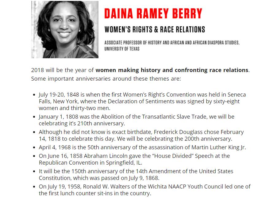 Daina Ramey Berry, public historian